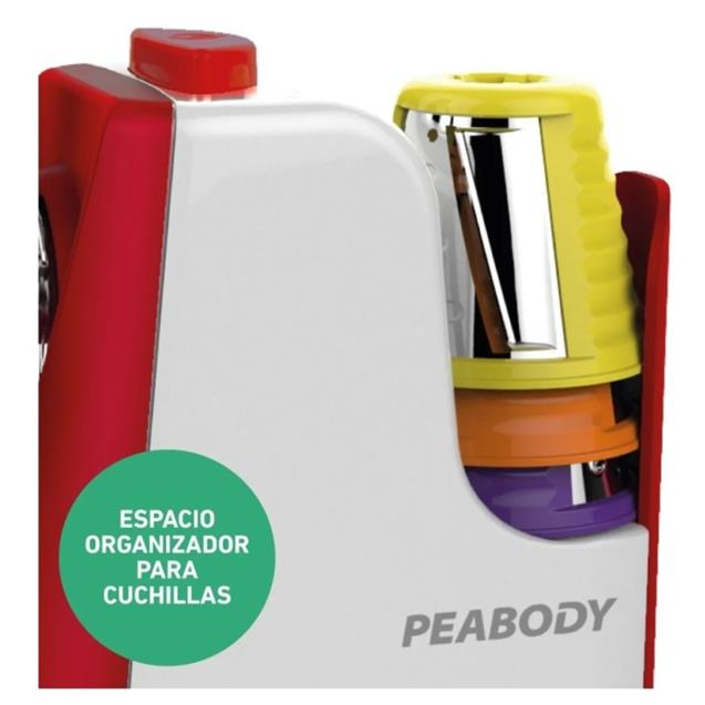 Rallador Peabody (Pesim326r) 5 Cortes + Acc Smoothie Helado Rojo