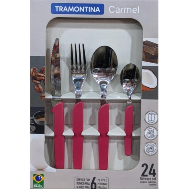 Set Cubiertos Tramontina 23499/031 Carmel 24 Piezas Rojo