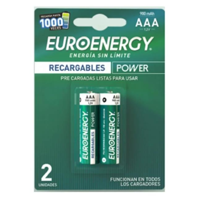 Pilas Euroenergy AAA 900mAh X2