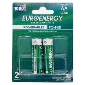 Pilas Euroenergy AA 2500mah X2