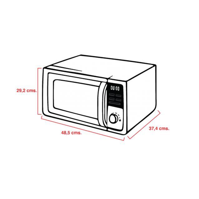 Microondas Atma 23 Lts Grill Digital Silver (MD1823GN)