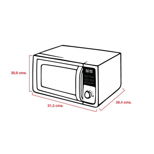 Microondas Atma 28 Lts Grill Digital Silver (MD1828GN)