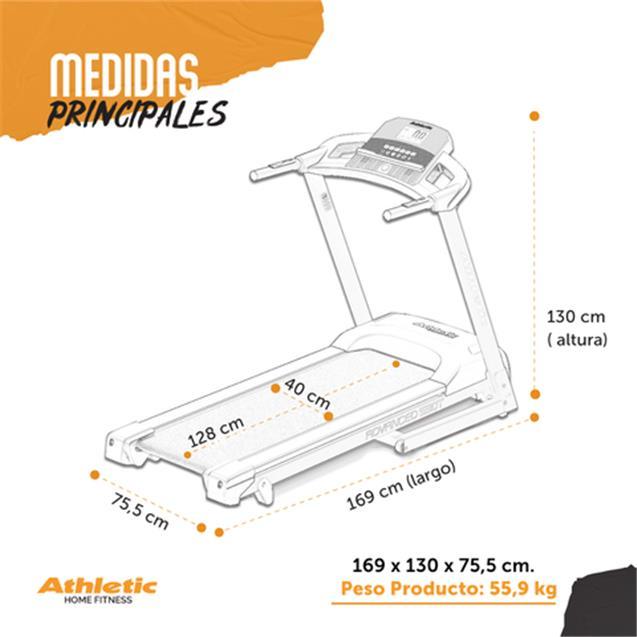 Cinta Motorizada Athletic 120kg 16 Km/H (530T-ARG)
