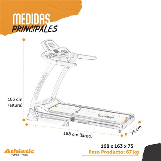 Cinta Motorizada Athletic 130kg 16 Km/H Lcd (1060T)