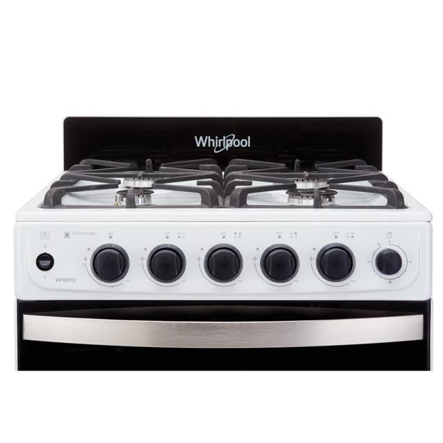 Cocina a Gas Whirlpool 55cm Blanca (WFB57DI)