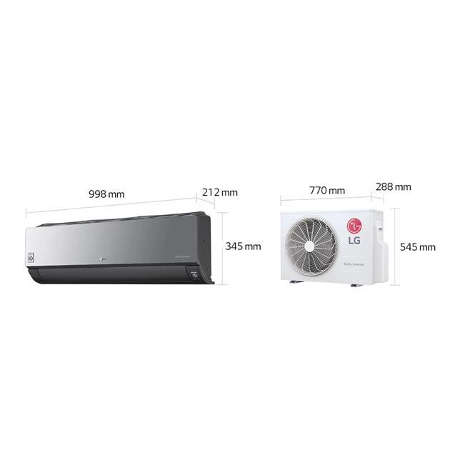 Split LG  Inverter Artcool Frío / Calor  4500Fg (S4W18KLRPA)