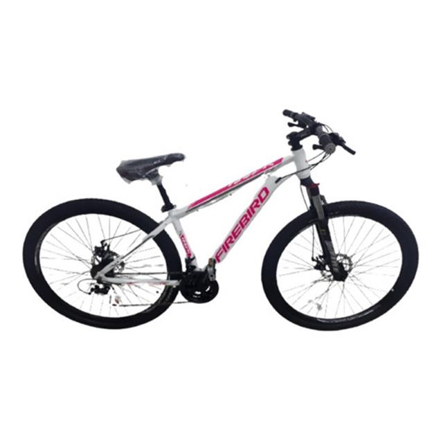 Bicicleta Halley Fire Bird Mountain Bike Rodado 29 21V T16 blanca/rosa dama (BIN29D21ECO)