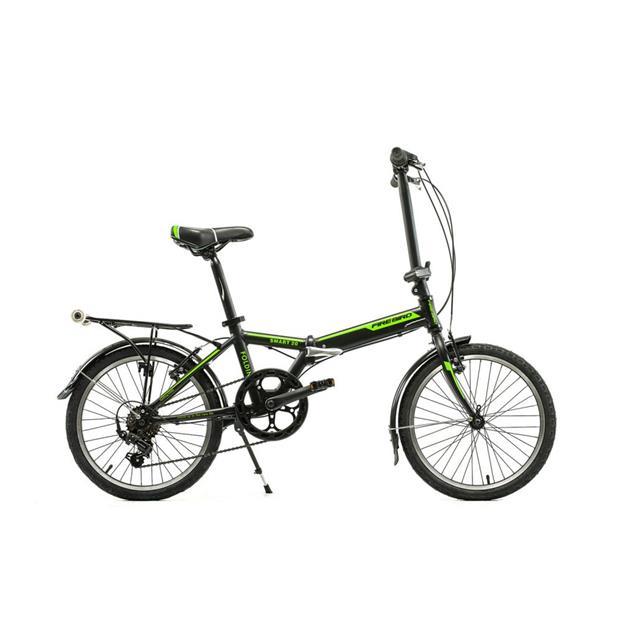 "Bicicleta Halley Firebird Plegable  20""  6V Aluminio Disco Negro/Verde (BINFBPLEG)"