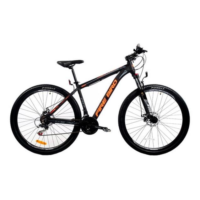 Bicicleta Halley Fire Bird Mountain Bike Rodado 29 21V T18 negro/naranja (BIN29-21ECO)