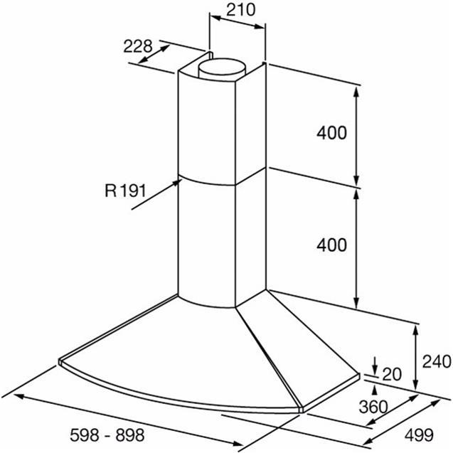 Campana Extractora Spar Convexa 60 Cm Acero (6342-428)