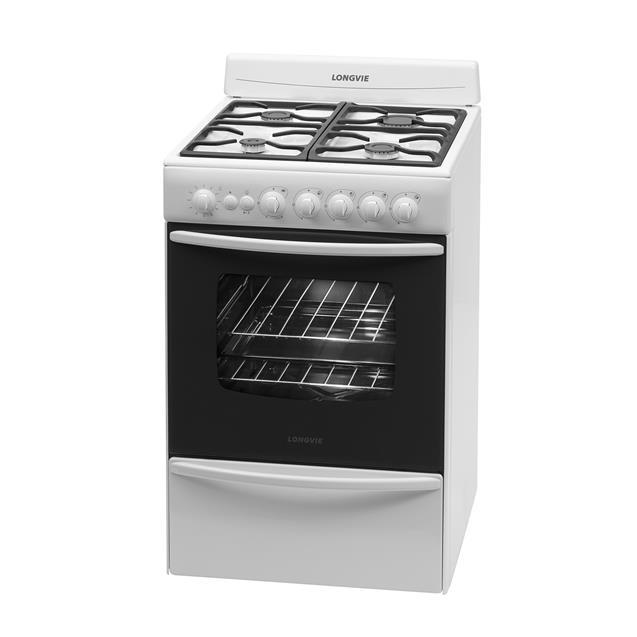 Cocina Longvie 13501BF 4 Hornallas 56 cm Blanco
