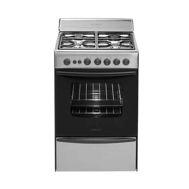 Cocina Longvie 13501XF 4 Hornallas 56 cm Acero Inoxidable