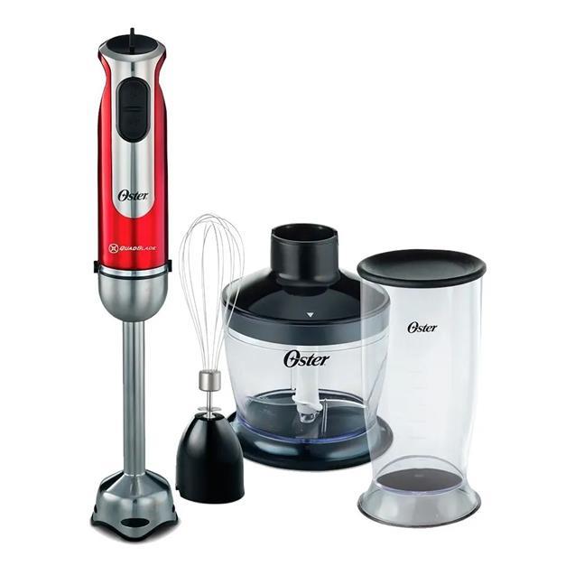 Mixer Oster 800w 2801 Roja Acc Batidor y Procesador