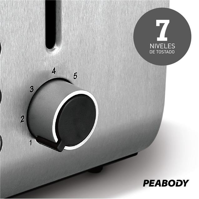 Tostadora Peabody Acero (Pe-T8127)