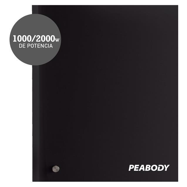 Vitroconvector Peabody 2000 W Digital Negro (PE-VQD20N)